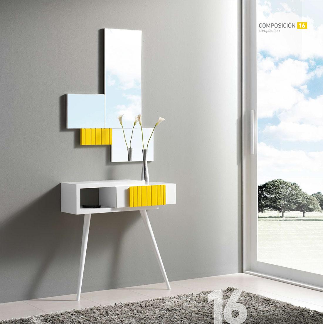 Como decorar un recibidor moderno espejo moderno para decorar recibidor muestrario de espejos - Como decorar un recibidor moderno ...