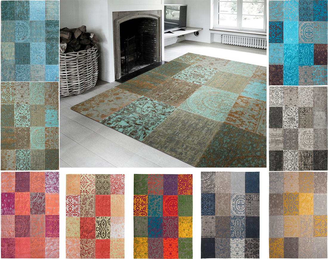 Midetextil alfombra patchwork chenille tienda de muebles for Alfombras patchwork persas