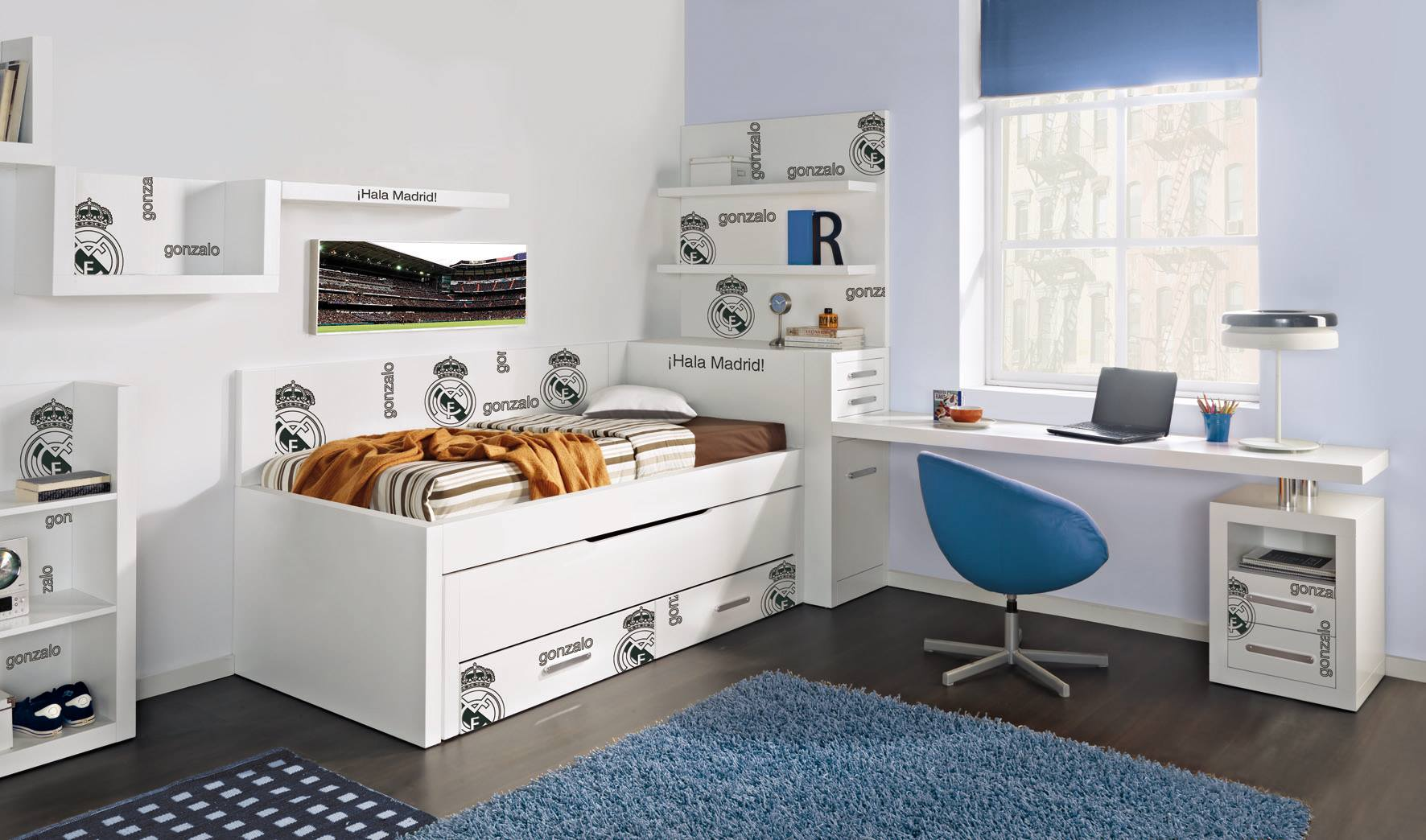 Lucama distribuidor oficial del dormitorio del real madrid for Fabrica de muebles juveniles en madrid