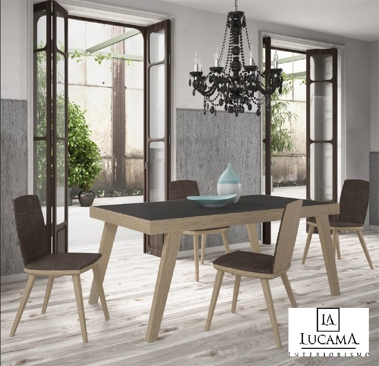 Mesa alargada y sillas arteal klass mj 01 tienda de - Tapiceros valladolid ...