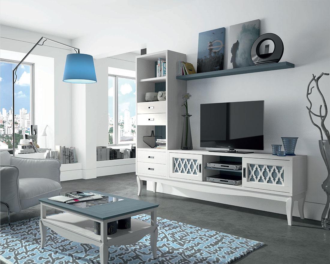 Decoración de un salón estilo moderno