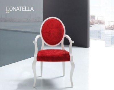 Sillón donatella en tonos rojos de Modesto Navarro en Muebles Lucama