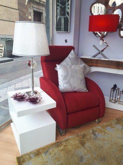 Sillón rojo de Muebles Lucama Valladolid