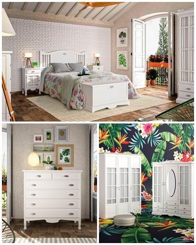 Dormitorio colonial Grupo Seys: Colección Decco 28D
