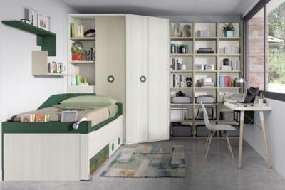Dormitorio juvenil compacto Montes Desing: Colección Style Plus