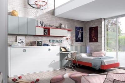 Dormitorio juvenil Montes Desing: Abatible de la colección Style Plus