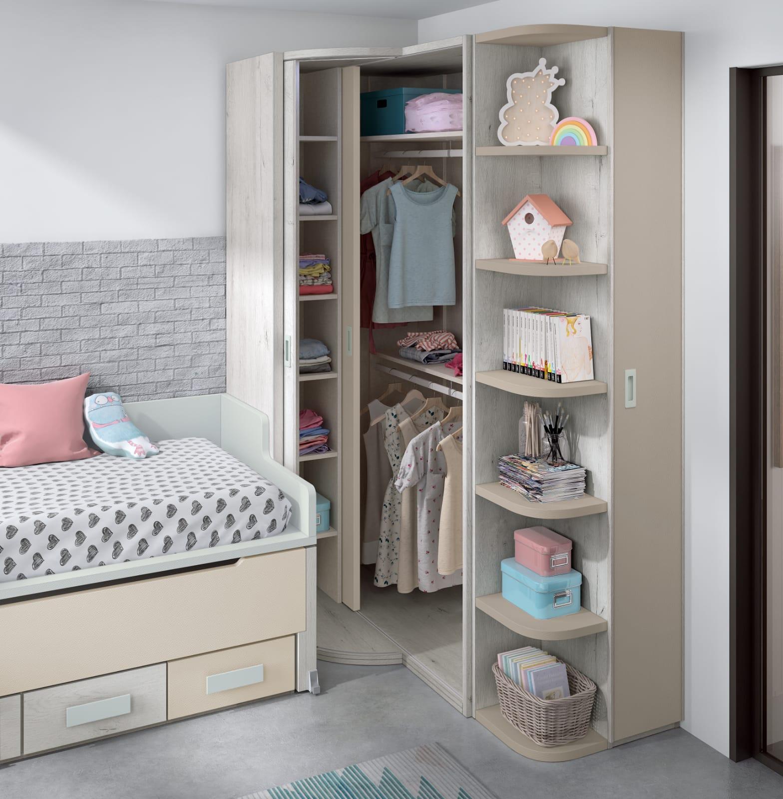Dormitorio juvenil Montes Desing: Armario doble puerta colección Style Plus