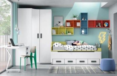Dormitorio juvenil Montes Desing: Composición colores de la colección Style Plus