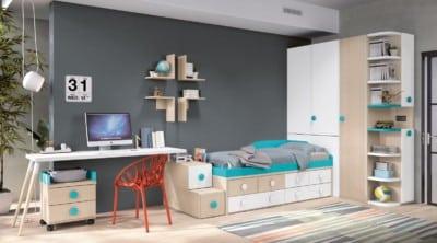 Dormitorio juvenil Montes Desing: Composición de la colección Style Plus