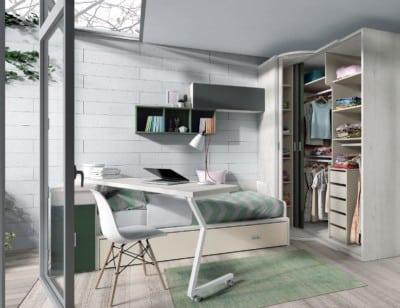 Dormitorio juvenil Montes Desing: Vestidor tres puertas colección Style Plus