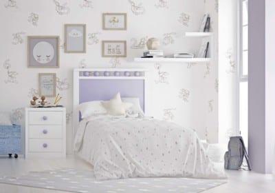 Dormitorio Juvenil Piñero y Cabrero: Tonos blanco y lila