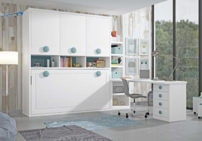 Dormitorio Juvenil Piñero y Cabrero: Tonos blanco y mar