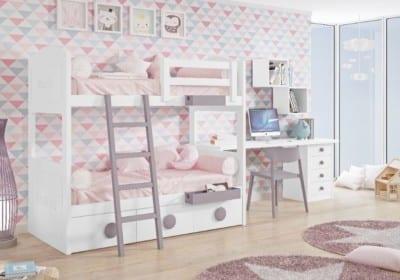 Dormitorio Juvenil Piñero y Cabrero: Blanco Nepal