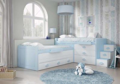 Dormitorio Juvenil Piñero y Cabrero: Tono blanco polo