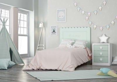 Dormitorio Juvenil Piñero y Cabrero: Tonos blanco y verde