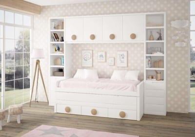 Dormitorio Juvenil Piñero y Cabrero: Tonos blancos