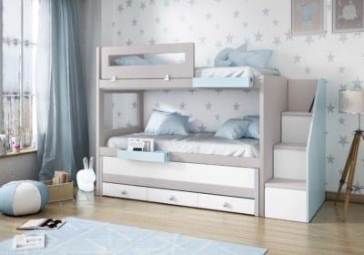 Dormitorio Juvenil Piñero y Cabrero: Tonos perla y blanco polo