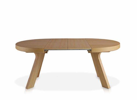 Auxival mesa auxiliar de madera extensible