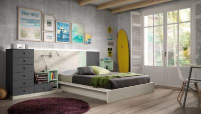 Dormitorio Juvenil Ros Urban Agua Gris