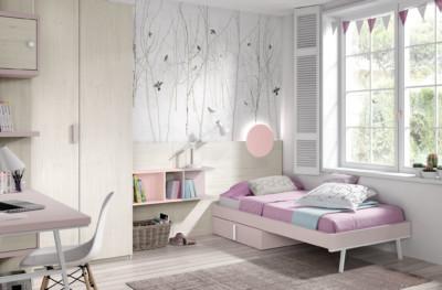 Dormitorio Juvenil Ros Urban Rosa Malva