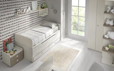 Dormitorio infantil Ros Mini: Bicama Plus urban tierra marrón