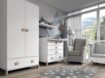 Dormitorio infantil Ros Mini Elemental Blanco