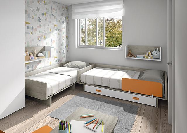 Dormitorio infantil Ros Mini: Gemelar Camas