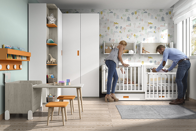 Dormitorio infantil Ros Mini: Gemelar cunas
