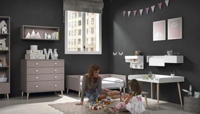 Dormitorio infantil Ros Mini: Metropoli Cama mora blanco