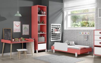 Dormitorio infantil Ros Mini: Off Beat Cama Blanco Coral