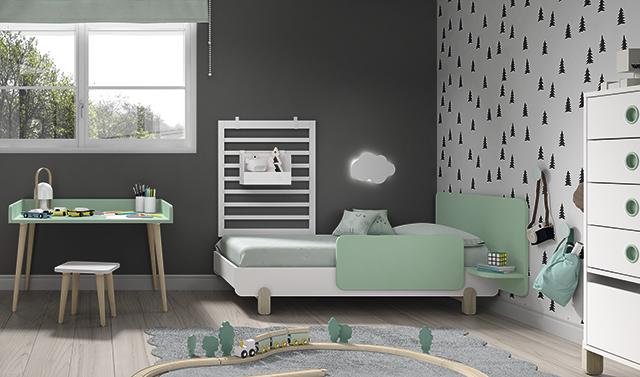 Dormitorio infantil Ros Mini: Off Beat Cama Blanco Mar