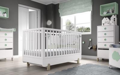 Dormitorio infantil Ros Mini Off Beat Cuna Blanco Mar