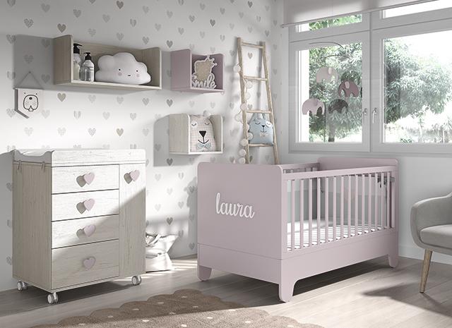 Dormitorio infantil Ros Mini Soft Balnco Rosa