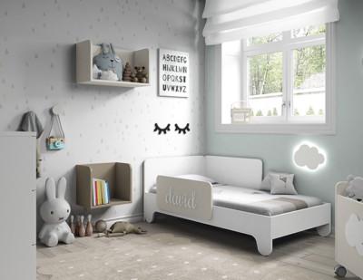 Dormitorio infantil Ros Mini Soft Blanco Tierra Marrón