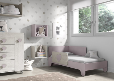 Dormitorio infantil Ros Mini Soft Urban Malva