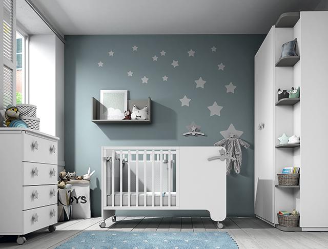 Dormitorio infantil Ros Mini Soft blanco gris