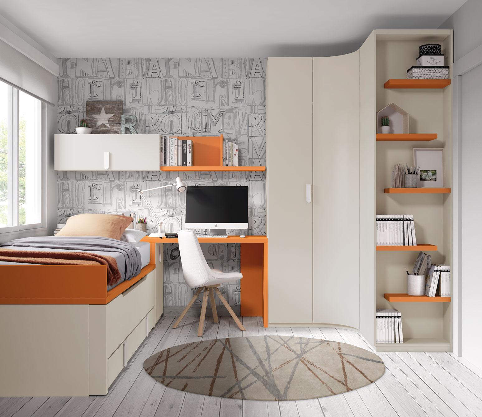 Dormitorio Juvenil Ros Tierra Calabaza