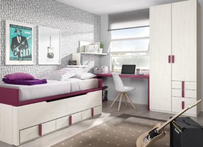 Dormitorio Juvenil Ros Urban Berenjena