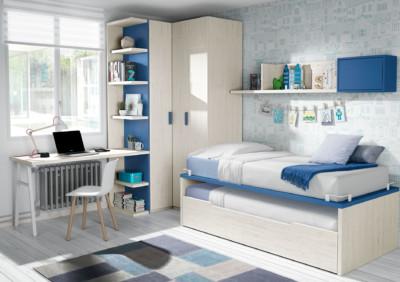 Dormitorio Juvenil Ros en tonos Urban Indigo